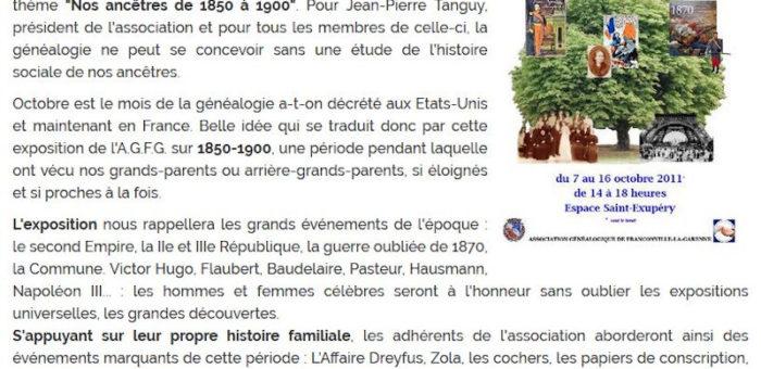 Le Journal de François, octobre 2011