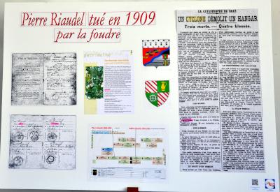 Pierre Riaudel tué en 1909 par la foudre